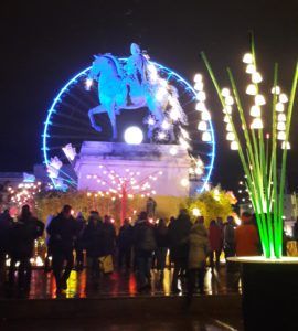 Place Bellecour giant garden during the Festival Lantern 2017