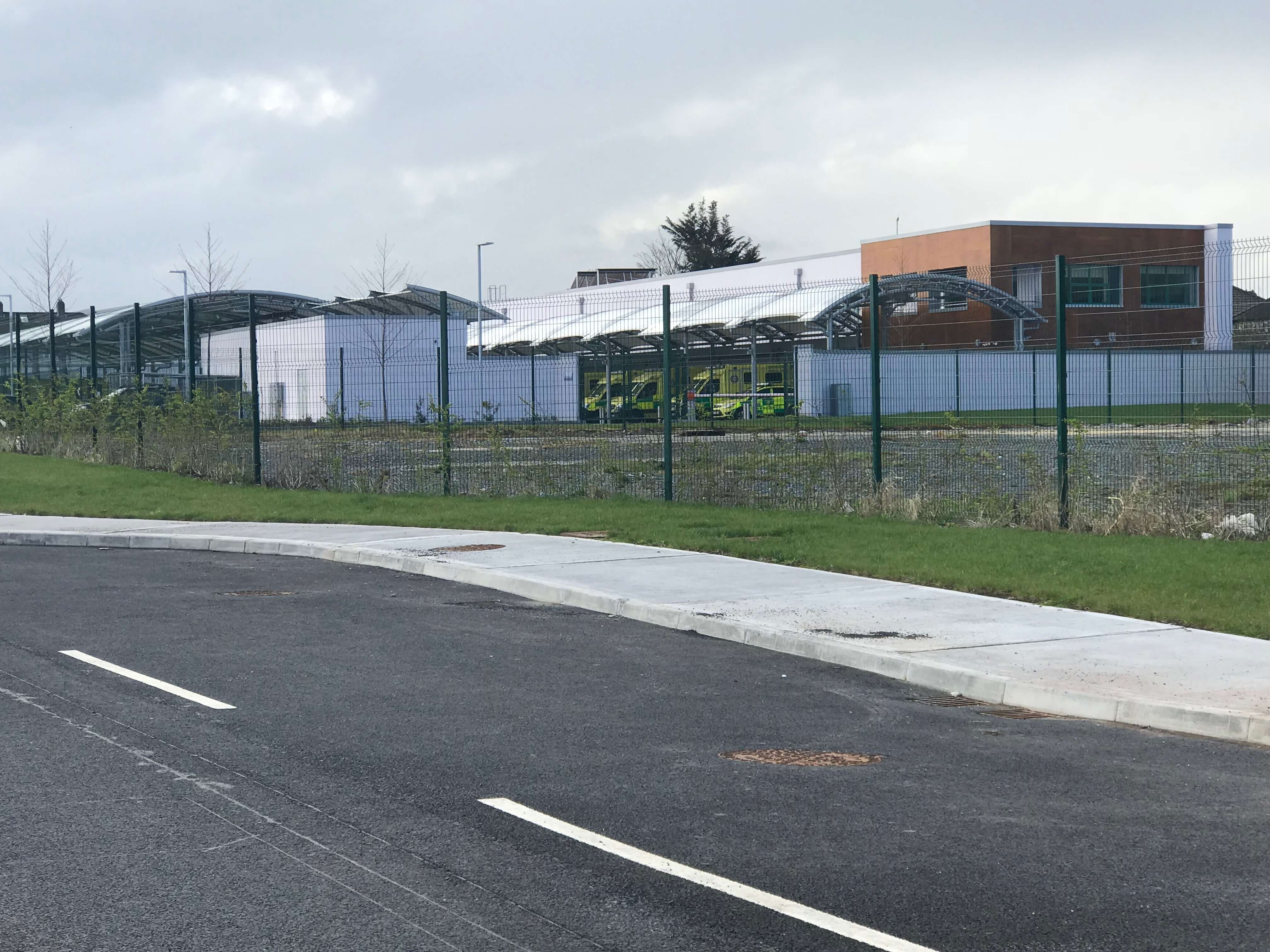 The site of the new National Ambulance Service base on the canal in Dublin. Photo credit: Bronwyn Molony.