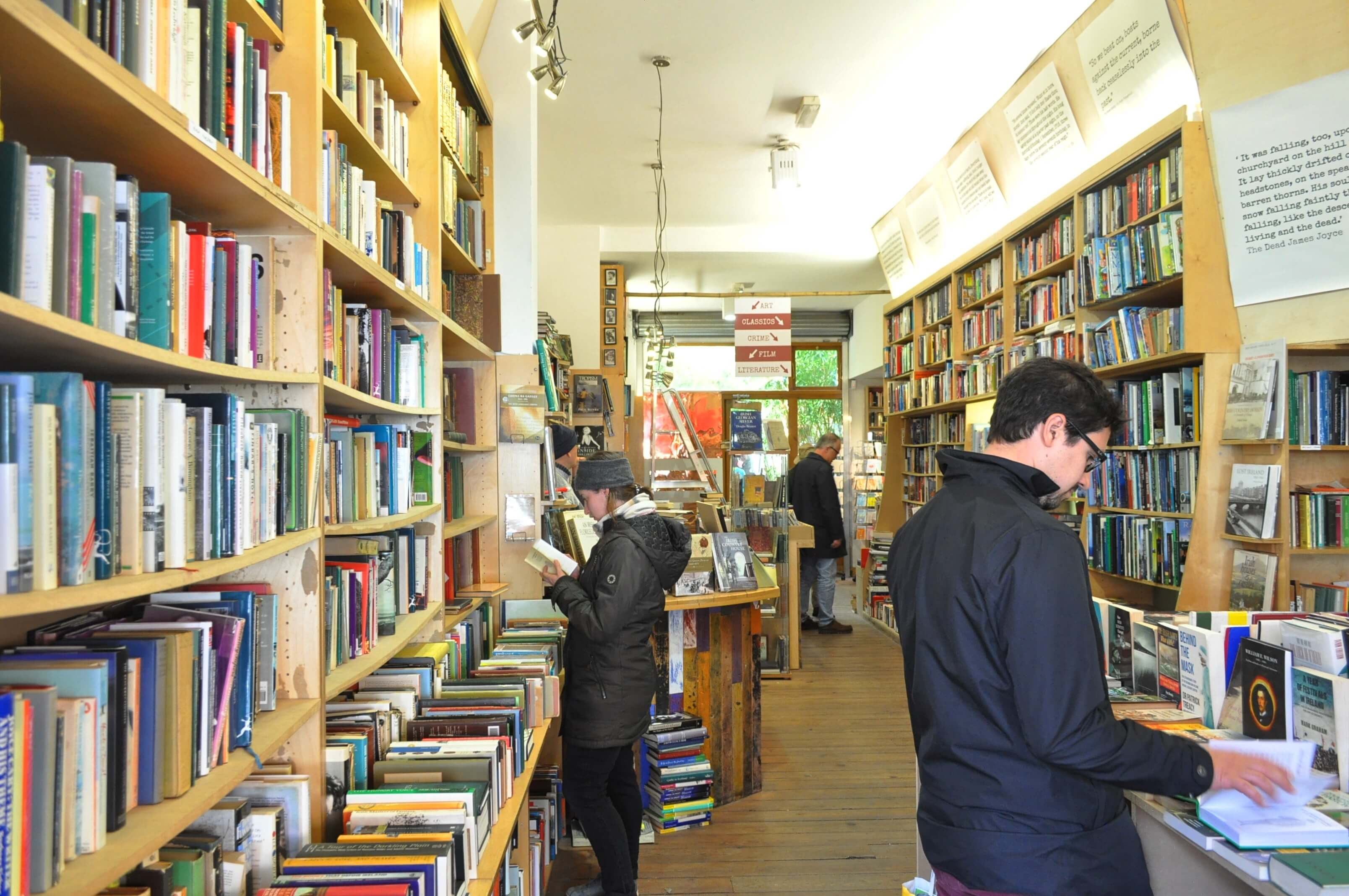 Entering the bookshop. Image credit: Stine Ødegård