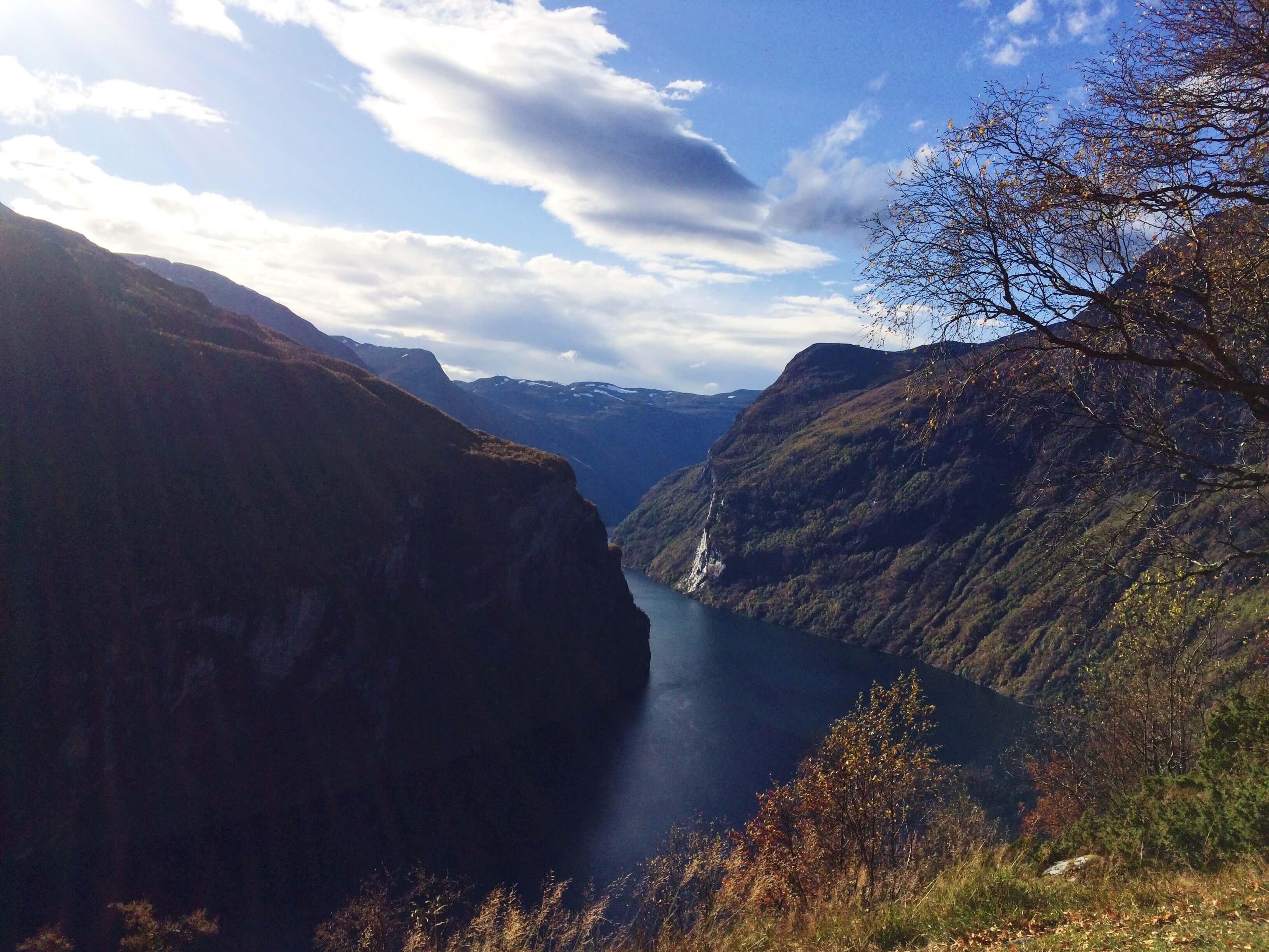 Geiranger seen from 'Ørnesvingen'. Image credit: Stine Ødegård