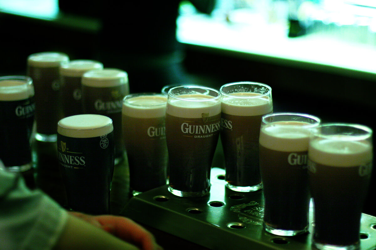 Guinness pints bar
