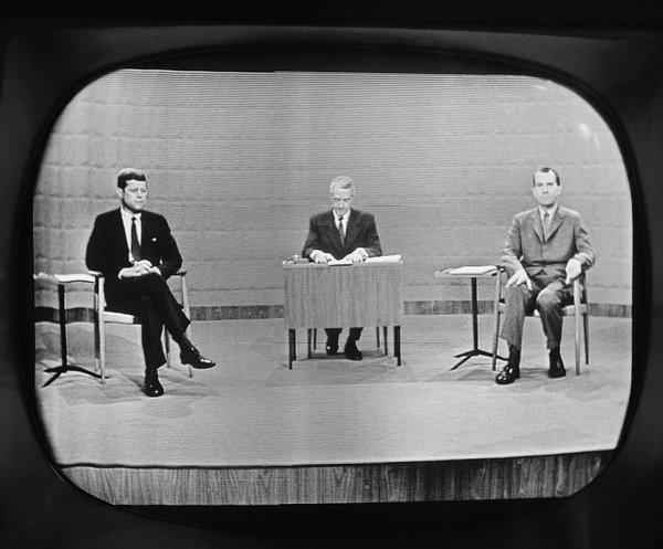 JFK and Nixon on first ever televised Presidential debate